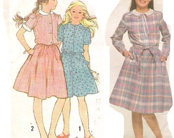 Simplicity Sewing Pattern 9986, Girls' Pullover Dress, Size 12
