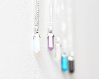 Discounted opal crystal healing stone necklace chakra