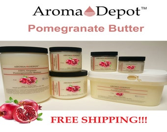 Pomegranate Premium Organic Butter 100% Pure Raw Cold Pressed Bulk 2 oz up to 3 Lb Skin, Hair & Body FREE SHIPPING!!!