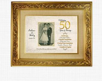Personalized 50th Anniversary Photo Gift & Keepsake - Printable