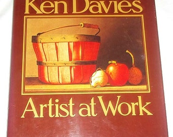 "Vintage 1978 Book ""Ken Davies Artist at Work"" by Ken Davies"