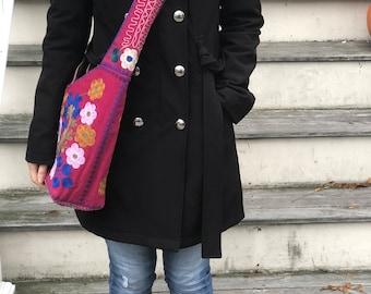 Gifts for Her Under 50 Dollars Flowers Motif Women Crossbody Bag