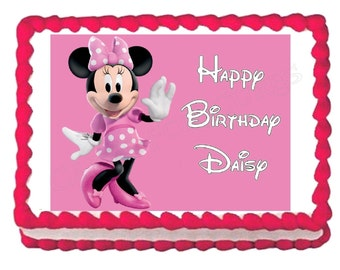 Minnie Mouse edible cake image cake topper frosting sheet