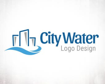Premade Logo Design • City Water