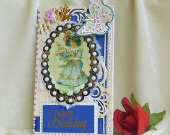 Kids birthday. 3rd birthday. Cute birthday card. 2nd birthday .Little girl. Toddler birthday. Baby girl. Princess  birthday .Gift for girls-