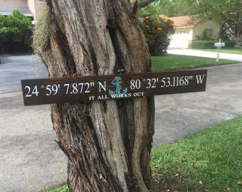 Special Order - Latitude & Longitude Sign