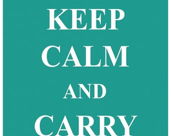KC04 Keep Calm and Carry On Poster Print