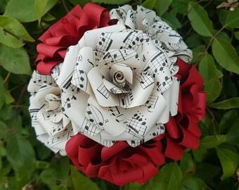 Sheet Music Book Bouquet-Book lover gift-Book Bouquet-Book decor- Unique Gift- Bridal Bouquet- Paper Flowers-Wedding- Valentines gift- music
