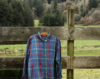 Soft blue flannel (sz: XL)
