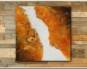 Original Textured Abstract Painting - FREE SHIPPING