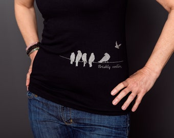 IamTra T-Shirt: Birds on Wire