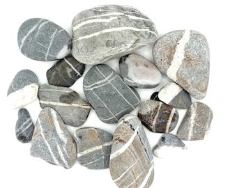 grey beach pebbles