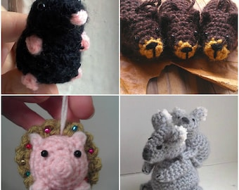 Crochet Pattern Bundle - Any 5  For 10 Dollars - simple amigurumi patterns animals by Moss Mountain