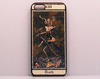 Iphone 7  6 case Iphone 5 iphone 4  Tarot Card Death Vintage art    Samsung Ipod Case mobile cell phone cover snap case