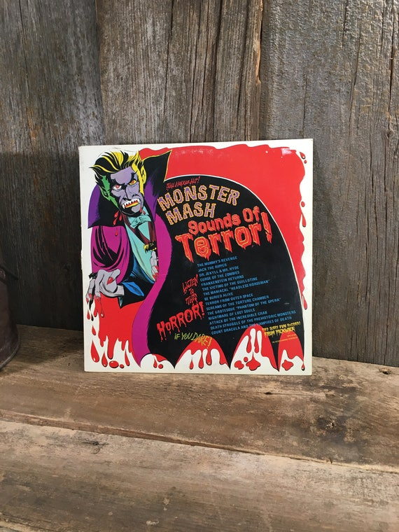Vintage Album Monster Mash Sounds of Terror from 1974, super scary sounds from the Monster Mash album, no scratches, lot of screaming horror