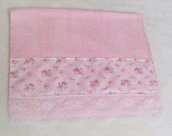 Pink Flowers Decorative Display Towel for your Romantic Cottage-Chic Decor