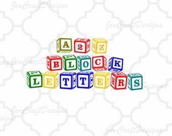 Monogram svg Alphabet and numbers  SVG, DXF, EPS, Ai, png Cricut,Silhouette, A-Z Alphabet Letters , Digital Cut Files Print then Cut