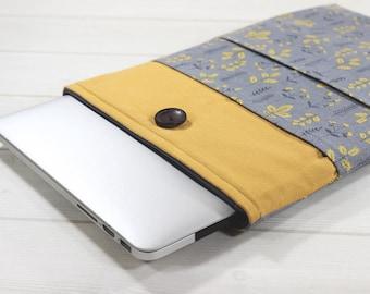 iPad Air 2 case, Google Pixel C case, iPad Pro sleeve, tablet case, tablet sleeve, iPad Pro case, gray, iPad Air sleeve, mustard, gift idea