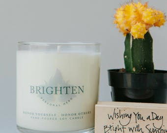 Cheer Up Gift, Brighten Intention Candle, Inspirational Gifts For Women, Send A Candle, Meditation Candle, Get Well Gift