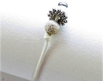 Waxed cotton bracelet 16259