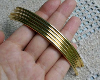 100pcs Metal Beads Gold Plated Curved Tube 100x3mm