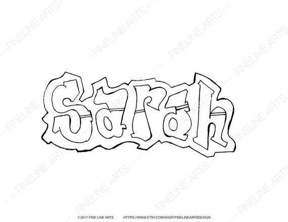 Sarah Coloring Book Pages Girls Baby Womens Names