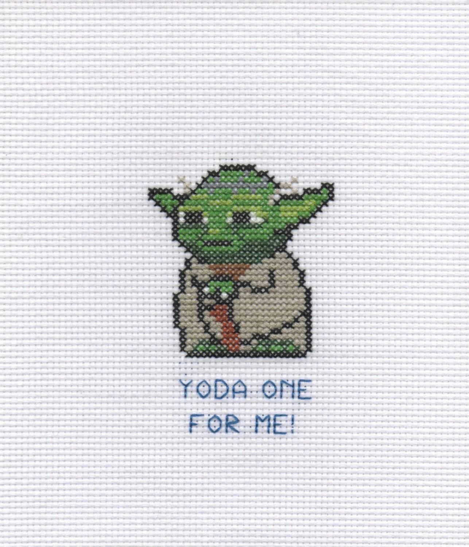 Yoda se me punto de Cruz