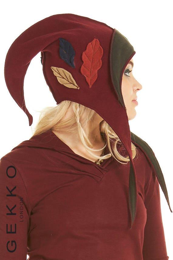 CAPUCHE de lutin, chapeau pointu, chapeau de magicien, elfe capot, capot,  bonnet de lutin, fée, chapeau ... 10b4f20a081