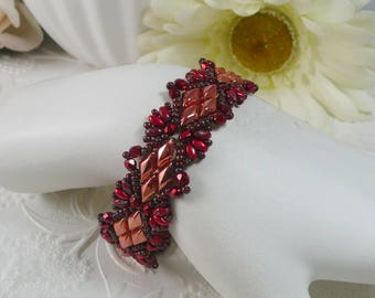 Woven Bracelet Bright Copper with GemDuos Gifts for Her