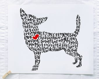 Chihuahua Illustration Print