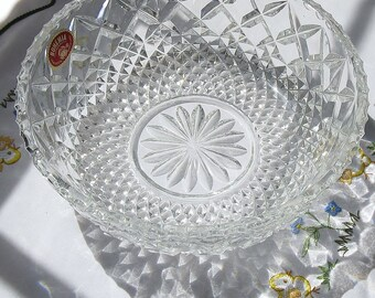 Sale! Vintage Bohemian Cut Crystal Bowls - Made in Czechoslovakia