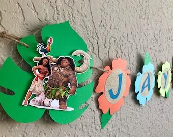 Moana Birthday Banner, Moana Birthday Party, Moana Banner, Moana Decorations, Moana Party, Moana Invitations
