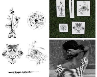 Tranquility - Nature Temporary Tattoos (Set of 10)