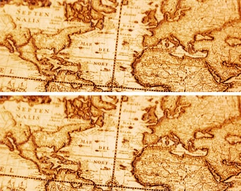 Ancient world map etsy ancient world map designer strips edible cake side toppers decorate the sides of gumiabroncs Image collections