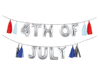 """4th of July Balloon Garland -17"""" 