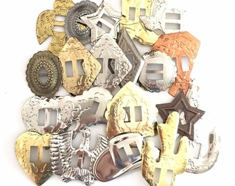 CONCHOS GRAB BAG Mixed Western Shapes 100 pcs