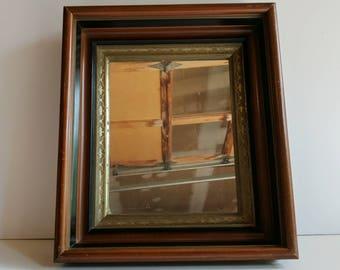 Small Wall Mirror - Small Desk Mirror - Antique Mirror - Vintage Mirror