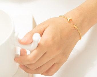 Handmade Brass Celestial Bracelet - Moon and Star - Celestial Jewelry