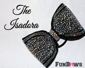 The Isadora - Gorgeous  New Sewn Rhinestone  Boutique Bow by Funbows