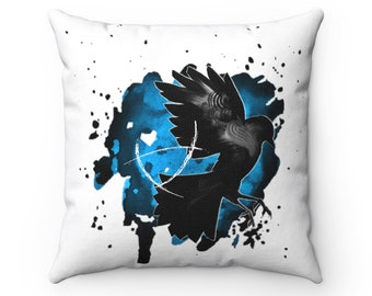 The Raven Cycle Watercolor Square Pillow, Bookish, Book Lover Gift, Home Decor.