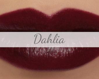 "Vegan Lipstick Sample - ""Dahlia"" (dark burgundy red lipstick) mineral makeup"