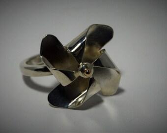 Sterling Silver Pinwheel