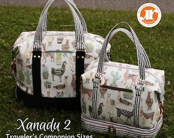 Xanadu II, The Traveler's Companion PDF Sewing Bag Pattern- Includes 2  new Sizes (Tote and Mini) and 2 Options - RLR Creations