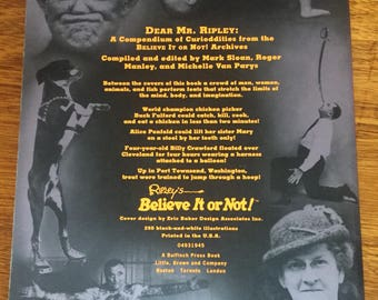 """Book - """"Dear Mr. Ripley A Compendium of Curiodditirs from the Believe It or Not! Archives"""""""