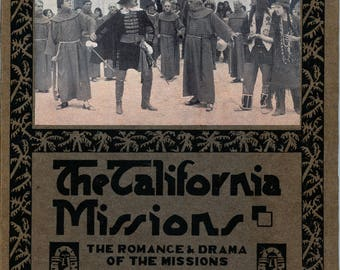 "1920s Book, ""The California Missions"""