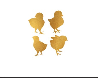 chicks gold foil clip art svg dxf file instant download silhouette cameo cricut commercial use