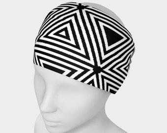 Black and White Triangles Headband