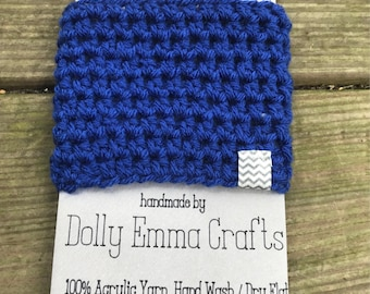 Crochet Coffee Cozy, Crochet Coffee cup Cozy, Teacher gift, Cup Sleeve - Royal Blue  cup cozy for hot and cold drinks, coffee lovers gift