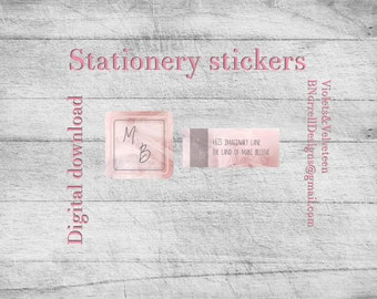 Pink Tulle Series stationery sticker set