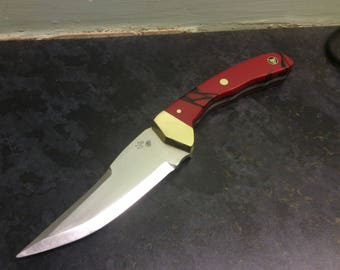 This is a handmade skinning knife made by myself Mark Bird